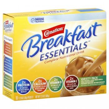 Carnation Breakfast Essentials Variety Pack Powder Drink Mix - 10 ct