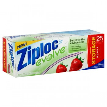 Ziploc evolve Storage Bags Quart Eco-Friendly