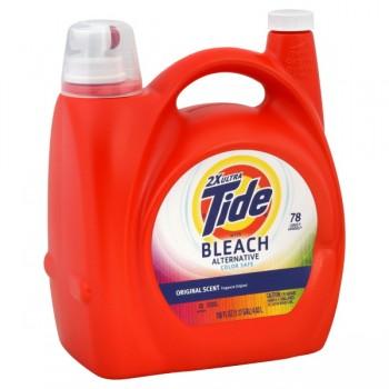 Tide 2X Ultra Liquid Laundry Detergent Bleach Alternative Original Scent