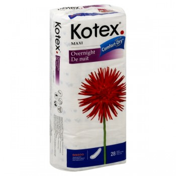 Kotex Maxi Pads Heavy Flow Overnight Unscented