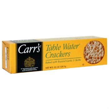 Carr's Table Water Crackers Garlic Herb