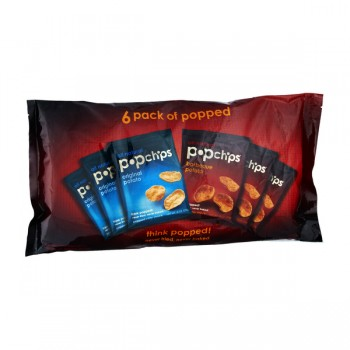 popchips Potato Chips 3 Original, 3 Barbeque - 6 ct All Natural