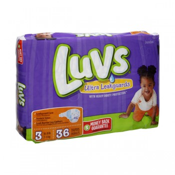 Luvs Ultra Leakguards Diapers Size 3 Both Jumbo Pack - 16-28 lbs