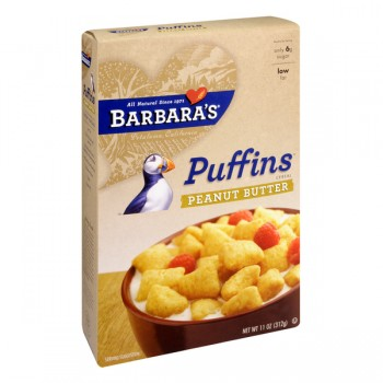 Barbara's Bakery Puffins Cereal Peanut Butter 100% Natural