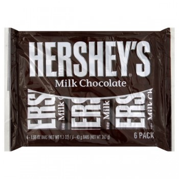 Hershey's Bar Milk Chocolate - 6 ct