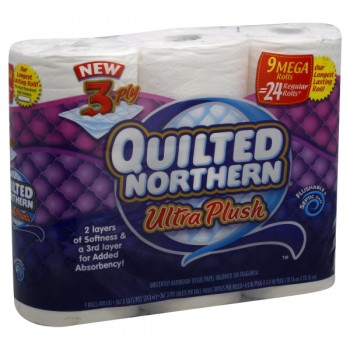 Quilted Northern Bath Tissue Ultra Plush 3-Ply Unscented