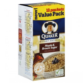 Quaker Instant Oatmeal Maple & Brown Sugar - 18 ct