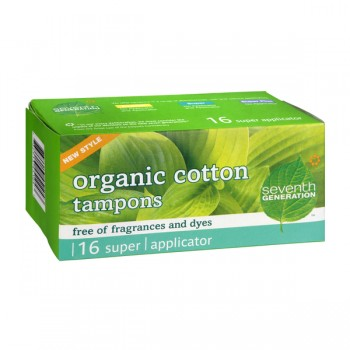 Seventh Generation Cotton Tampons Super Absorbency w/Applicator Organic
