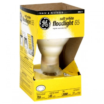 G.E. Floodlight Indoor R-30 Soft White Medium Base 65 Watt