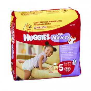 Huggies Supreme Little Movers Diapers Size 5 Both Jumbo Pack - 27+ lbs