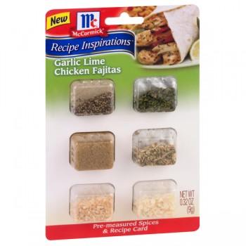 McCormick Recipe Inspirations Garlic Lime Chicken Fajitas