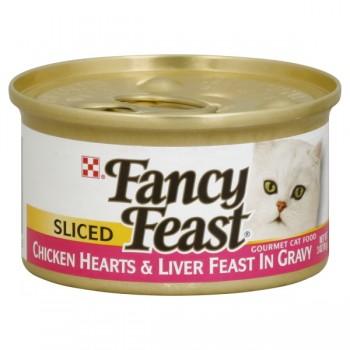 Fancy Feast Wet Cat Food Sliced Chicken Hearts & Liver Feast in Gravy