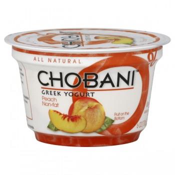 Chobani Greek Fruit on the Bottom Yogurt Peach 0% Non Fat All Natural