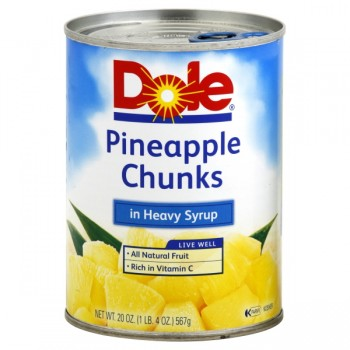 Dole Pineapple in Heavy Syrup Chunks