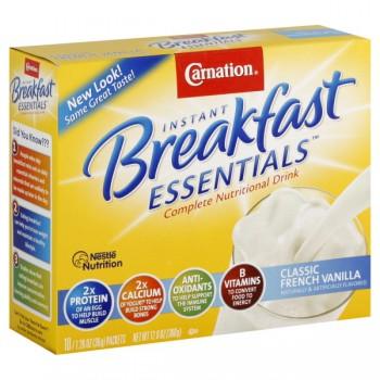 Carnation Breakfast Essentials French Vanilla Powder Drink Mix - 10 ct