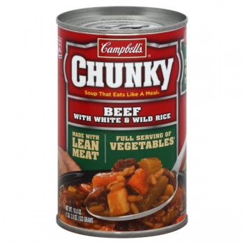 Campbell's Chunky Soup Beef with White & Wild Rice