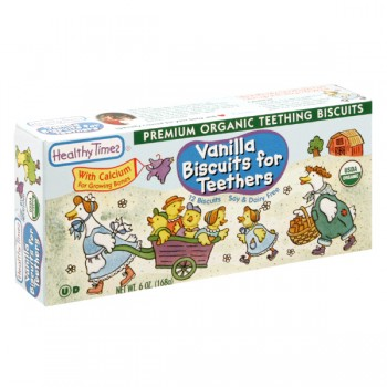 Healthy Times Biscuits for Teethers Vanilla Soy & Dairy Free Organic 12 ct