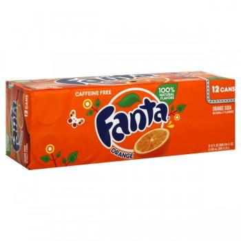 Fanta Orange Soda - 12 pk