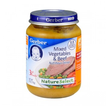 Gerber 3rd Foods Nature Select Mixed Vegetables & Beef Dinner