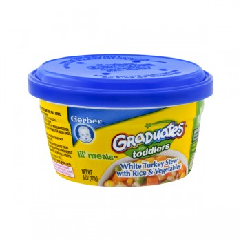 Gerber Graduates for Toddlers Lil' Meals White Turkey Stew Rice & Veggies