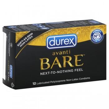 Durex Avanti Bare Condoms Lubricated Isoprene Non-Latex