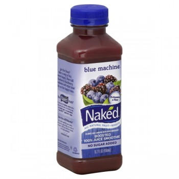 Naked Blue Machine Boosted 100% Juice Smoothie No Sugar Added All Natural