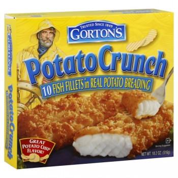 Gorton's Fish Fillets Potato Crunch - 10 ct Frozen