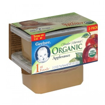 Gerber 1st Foods Tender Harvest Fruits Apple Sauce Organic - 2 pk