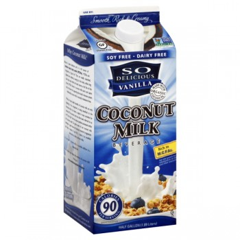 So Delicious Coconut Milk Beverage Vanilla Natural Refrigerated