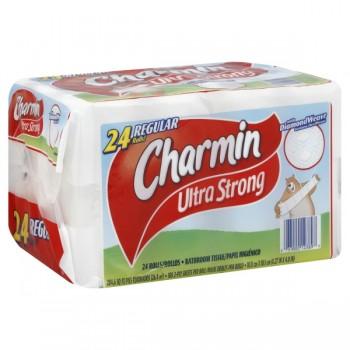 Charmin Ultra Strong Bath Tissue Regular Rolls 2-Ply Unscented