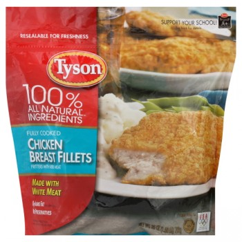 Tyson Chicken Breast Fillets with Rib Meat Fully Cooked Frozen
