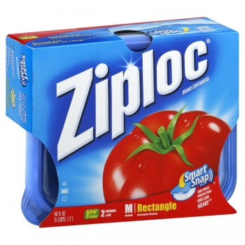 Ziploc Containers Rectangle Medium with Lids 40 oz