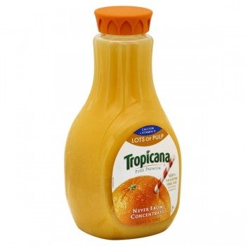 Tropicana Pure Premium 100% Pure Orange Juice Calcium Lots of Pulp