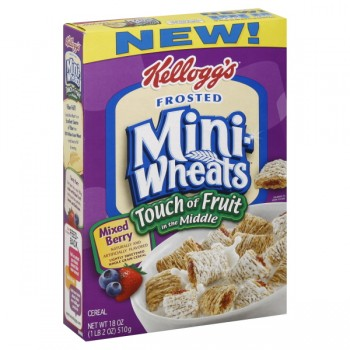 Kellogg's Mini Wheats Cereal Frosted Touch of Fruit in Middle Mixed Berry