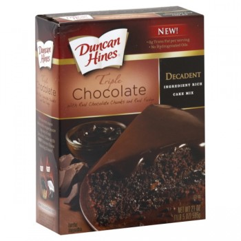 Duncan Hines Decadent Ingredient Rich Cake Mix Triple Chocolate