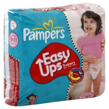 Pampers Easy Ups Training Pants Size 5 Girls - 30-40 lbs