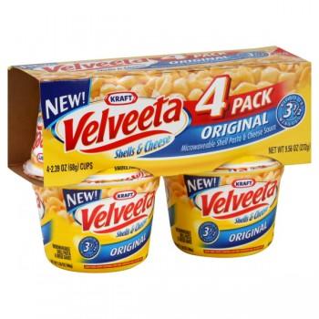 Kraft Velveeta Shells & Cheese Cup Original - 4 pk