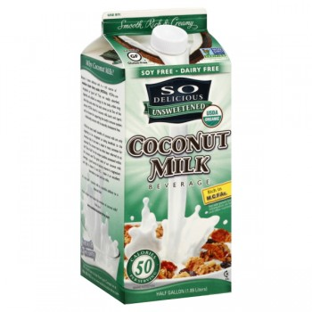 So Delicious Coconut Milk Beverage Unsweetened All Natural Refrigerated