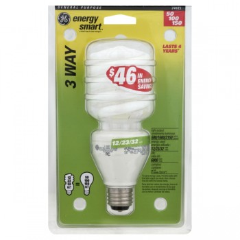 G.E. Soft White CFL Fluorescent 3-Way Light Bulbs Compact 12/23/32 Watt