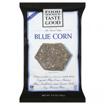 Food Should Taste Good Tortilla Chips Blue Corn Natural