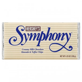 Hershey's Symphony Bar Milk Chocolate with Almonds & Toffee Chips
