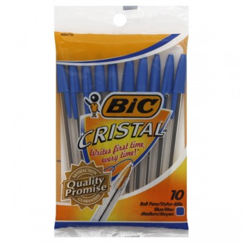 BIC Cristal Stic Ballpoint Pens Medium Point Blue