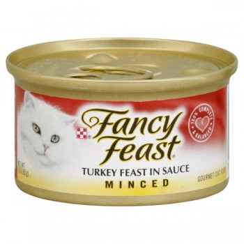 Fancy Feast Wet Cat Food Minced Turkey Feast in Sauce