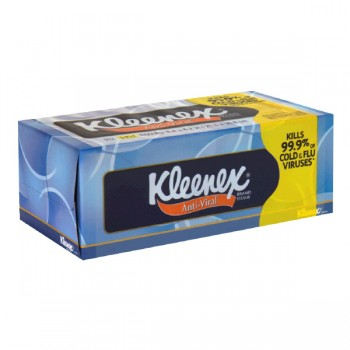 Kleenex Anti-Viral Facial Tissue 3-Ply Assorted Colors