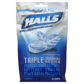 Halls Cough Drops Mentholyptus Sugar Free Mountain Menthol