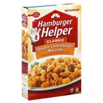 Betty Crocker Hamburger Helper Classic Double Cheeseburger Macaroni
