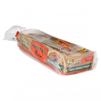 Thomas' Hearty Grains English Muffins 100% Whole Wheat - 6 ct