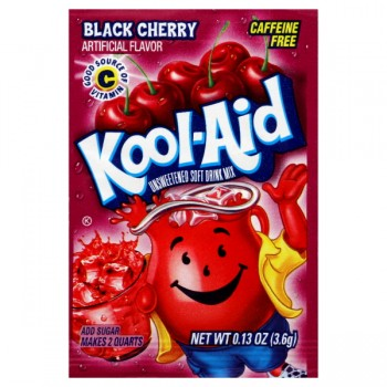 Kool-Aid Black Cherry Drink Mix Unsweetened - Makes 2 Quarts