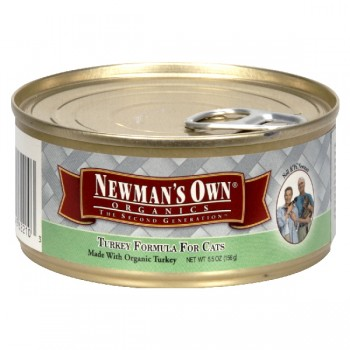 Newman's Own Organics Wet Cat Food Turkey Formula