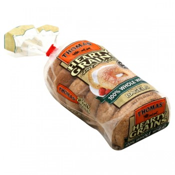Thomas' Hearty Grains Bagels 100% Whole Wheat - 6 ct